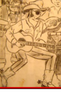Original drawing by GG Allin